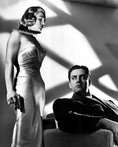 Lizabeth Scott and Raymond Burr - 1946 - Pitfall by André de Toth