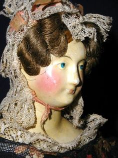 """Kestner, """"The King of Dollmakers"""" earned the title by making dolls from from papier-mache and wax (throughtheeyesofachild. Making Dolls, Antique China, Doll Head, Antique Dolls, Alter, 18th Century, 1930s, Wax, Romantic"""