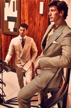 Supermodels Garrett Neff and Oriol Elcacho team up for Massimo Dutti's Spring Summer 2016 Personal Tailoring menswear lookbook captured by fashion photographer Gonzalo Machado.