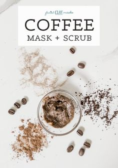 Smooth and exfoliate with spent coffee grounds while nourishing with minerals and deep cleansing into your pores. With the best skin loving ingredients.  Exfoliating coffee grounds are the best way to slough off dead skin cells from the surface of your skin, revealing smooth skin.   #exfoliating #exfoliate #java #coffee #grounds #coffeegrounds #clay #mask #body #face #scrub #exfoliate #spentgrounds