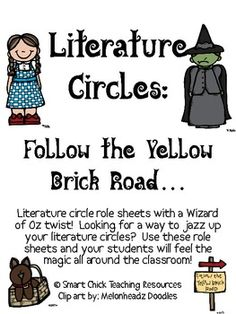 A Wizard of Oz inspired Literature Circles packet that can be used throughout the school year, or can be used for one book (maybe a fantasy one) or...