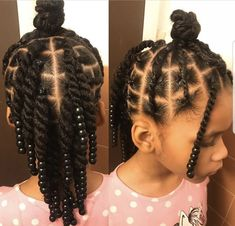 ✨This style is for the non-braiders out there.✨ This style was done on blow dried hair. Products used: Candice Cantu leave in SheaMoisture curl… Little Girls Natural Hairstyles, Black Kids Hairstyles, Cute Little Girl Hairstyles, Little Girl Braids, Baby Girl Hairstyles, Kids Braided Hairstyles, Princess Hairstyles, Braids For Kids, Girls Braids