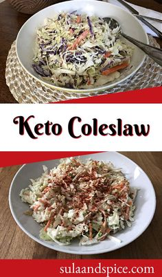 Take an easy approach to coleslaw with a cabbage mix and a 3-ingredient dressing. One simple substitution makes it keto friendly! Sugar free coleslaw that doesn't taste like it! Low carb coleslaw in 5 minutes. #easycoleslaw #ketocoleslaw #homemadecoleslaw #creamycoleslaw #coleslawdressing