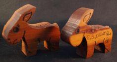 Vintage Wood Souvenir Salt and Pepper Shaker Set S.B. Elliott State Park PA   eBay