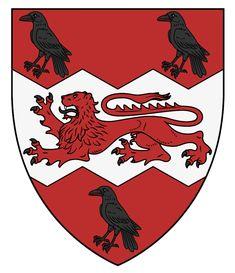 House Sigil, Shield Design, Ferrari Logo, Coat Of Arms, Age, Crows, Animals, Places, Castles
