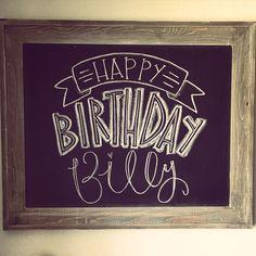 Happy Birthday Chalkboard DIY Pretty Little Blackboard