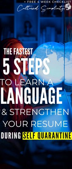 The Fastest 5 Steps to learn a language & strengthen your resume during Self Quarantine - Cultured Simplicity Motivational Games, Vocabulary Definition, Cantonese Language, Learning Languages Tips, Learn Another Language, Language Classes, Foreign Language, Skills To Learn, France