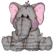 Jungle Baby Elephant from Precious Piecings