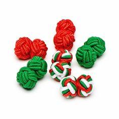 Jolly Silk Knot Cufflinks