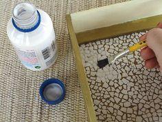 Mosaico com cascas de ovos