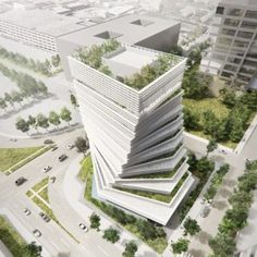"""Kengo Kuma to """"fuse nature and architecture"""" with twisted Rolex tower underway in Dallas"""