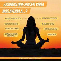 # Hacer yoga nos ayuda a...?