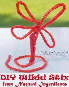 DIY Wikki Stix from Natural Ingredients