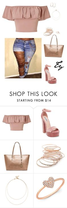 """Untitled #296"" by flydreamersfashion on Polyvore featuring Miss Selfridge, Steve Madden, Michael Kors, Red Camel, Sole Society, Anne Sisteron and Vita Fede"