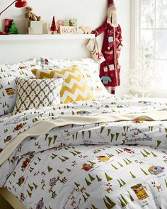 north pole holiday percale bedding garnet hill