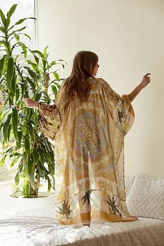 Women's Kimonos, Ponchos & Cardigans   Free People Fit N Flare Dress, Fit And Flare, Free People Store, Kimono Fashion, Boho Fashion, Style Fashion, Fashion Trends, Dress And Heels, Boho Outfits