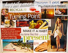 I am a HUGE vision board junkie, and in all honesty they work pretty well. I think pinterest is the new virtual vision board:)