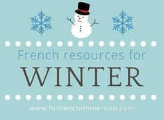 Check out these French winter resources for your French Immersion or Core French classroom: emergent reader, cut and paste activities, and more! French Teaching Resources, Teaching French, Teaching Ideas, French Classroom Decor, Core French, French Teacher, French Immersion, Classroom Activities, Holiday Activities