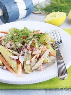 Salade de harengs fumés sauce moutarde à l'ancienne