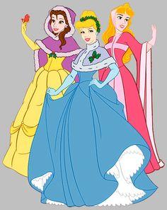 Belle      Aurora     and      Cinderella