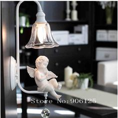 Modern Wall Lamp Wall Light Sconce Music Angel Wall Lamp Light with Lovely Violin Angel Guaranteed 100%+Free shipping!