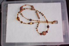 Brown Necklace by glitterbygrammie on Etsy, $10.00