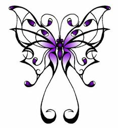 I want a purple butterfly for FMS awareness