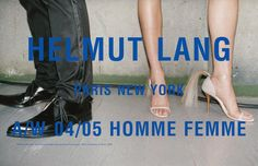 Helmut Lang - advertising campaign by Jürgen Teller