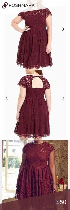 Torrid lace open back skater dress Torrid lace open back skater dress. size 12 is like new 💫 torrid Dresses Prom