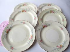 Vintage Homer Laughlin Ferndale Pastel Floral by thechinagirl