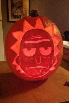 rick and morty pumpkin carving - Google Search