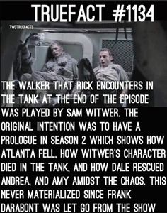 Boo, that sucks. That would have been interesting to see. Walking Dead Facts, Walking Dead Pictures, Fear The Walking Dead, Talking To The Dead, Dead Zombie, Dead Inside, Stuff And Thangs, True Facts, Staying Alive