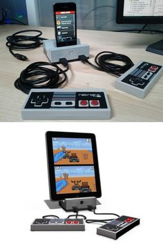 Retro gamedock turns your iPhone into a nes-like videogame. Help kickstart this awesome project http://www.kickstarter.com/projects/500587227/gamedock-for-iphone-ipad-and-ipod-touch-devices