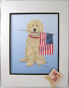 Unique items with Doodles on them are hard to find! We are grateful our artist friend creates these fabulous Doodle dog art. Some may see these as Goldendoodle prints while other may see them as Labradoodle prints. Either way they are fun!