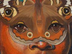 Butterfly Eyes - windows to the soul. Mixed Media painting by Tara Winona