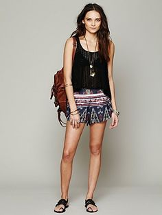 Cleobella Gemini Ikat Short at Free People Clothing Boutique ...So comfortable looking yet still stylish