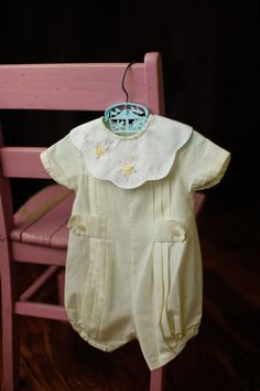 Vintage Rosey Kids Yellow Bee Embroidered Infant by LittleMarin
