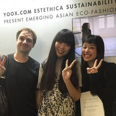 #‎FFIXXEDSTUDIOS‬ happy to win the Y.E.S. ( Yoox.com Estethica Sustainability Award )!!! Special thanks to @yoox @susiebuble and ‪#‎estethica‬ #FFIXXEDSTUDIOS #ffiXXed #yoox #susiebubble