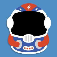 Masketeers Printable Masks: Printable Astronaut Mask