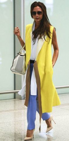 The Terrier and Lobster: Look of the Day: Victoria Beckham in Victoria Beckham at Beijing Airport