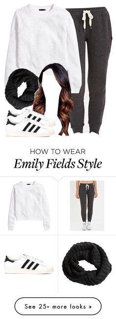 """""""Emily Fields inspired school outfit"""" by liarsstyle on Polyvore featuring moda, Forever 21, H&M, adidas, women's clothing, women, female, woman, misses y juniors"""