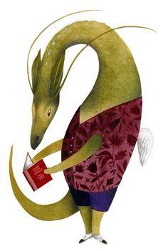 O Lobo Leitor: O prazer da leitura em 7 ilustrações de Ester Garc...
