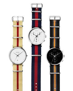 Georg Jensen NATO Watch Straps for Koppel 317 & Hailing from Scandinavia, luxury brand Georg Jensen conjoin the classic NATO Watch Strap with its Tag Heuer, Rolex, Sporty Watch, Nato Strap, Best Watches For Men, Awesome Watches, Dapper Men, Gentleman Style, Gentleman Fashion