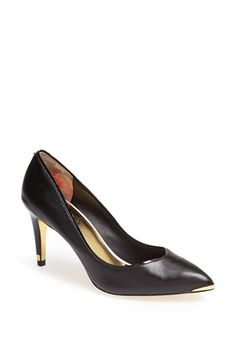 68badbe2aa5994 Ted Baker London  Mitila  Pump (Women) available at Black heel with gilded  tips
