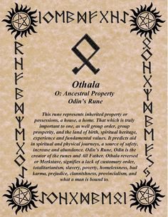 Your Daily Rune for August 7 is Othala – Witches Of The Craft®