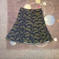 Dark green skirt NWOT Dark green and black skirt Skirts A-Line or Full