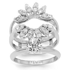 16 Best Wedding Band Inserts Images On Pinterest Halo Rings