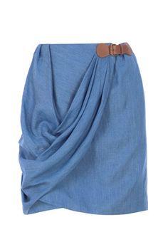 Denim Skirt #r29summerstyle