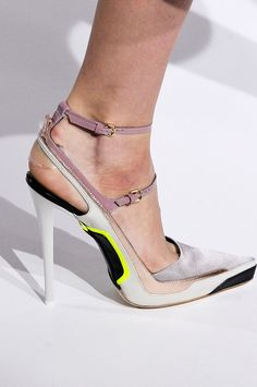 Jil Sander sexy straps, lacing & lines Fall 2012 #Shoes #Heels