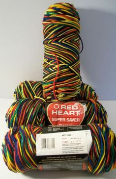 Red Heart Super Saver MEXICANA Yarn 4 Skeins Variegated 170 Gram Balls - SOLD - click here for more yarn